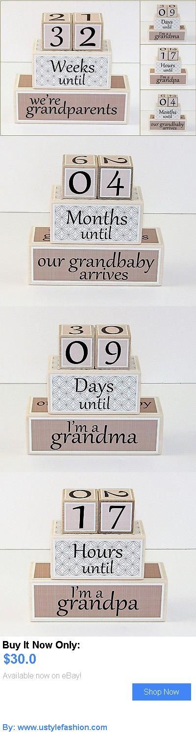 Birth Announcements And Cards: Grandparents Countdown Blocks – Pregnancy Countdown – Grandma – Grandpa BUY IT NOW ONLY: $30.0 #ustylefashionBirthAnnouncementsAndCards OR #ustylefashion