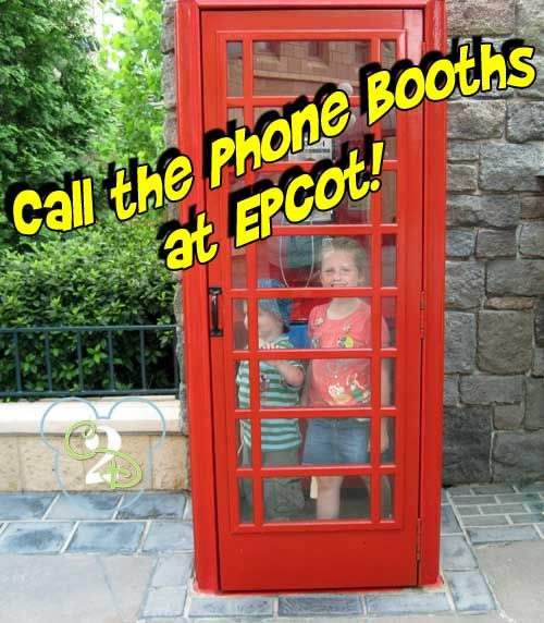Walt Disney World Tip: Numbers For The Phone Booths in Epcot