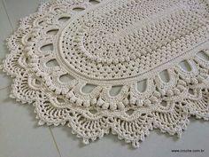 Tapete oval modelo Russo – passo a passo – parte2   Croche.com.br
