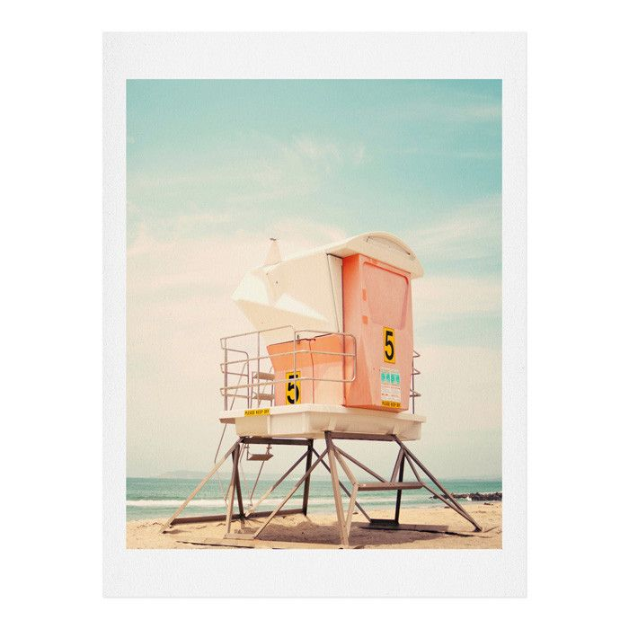 Bree Madden Beach Tower 5 Art Print   DENY Designs Home Accessories