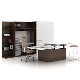 Organizations are recognizing the power of blending corporate culture and brand. And they are constantly pressured to do more with less space. Haworth Suite casegoods offers a breadth of capabilities that solves these issues and enables business success. Height-adjustable components support ergonomic needs, and personal storage credenzas keep items secure when the primary occupant is away. #haworth #poestlouis