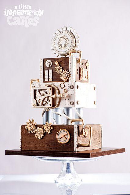 Steampunk wedding cake
