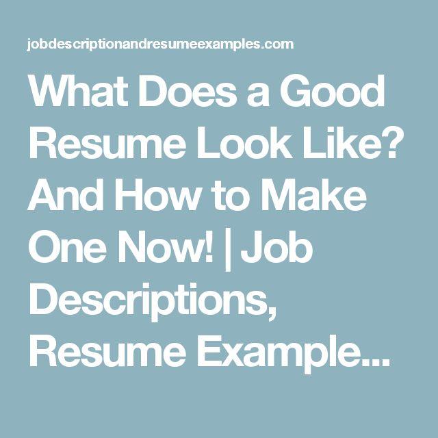 As 25 melhores ideias de Good resume examples no Pinterest Dicas - how to do a good resume examples