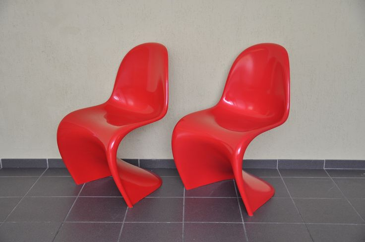 """Verner Panton """"baydur"""" chair für Horn GmbH in rot von 1986"""