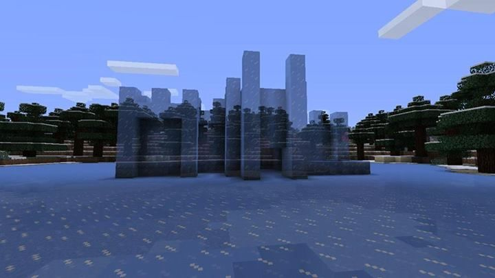 Minecraft Building Design Ice Castle This Modern