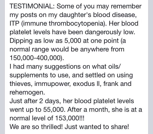 Living with thrombocytopenia