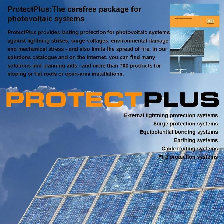 #ProtectPlus The carefree package for #photovoltaic systems #OBOBettermann #Buildingconnections  #solarenergy  #renewableenergy  #Solutions