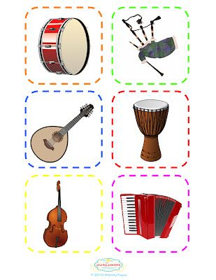 24 more musical instrument flash cards