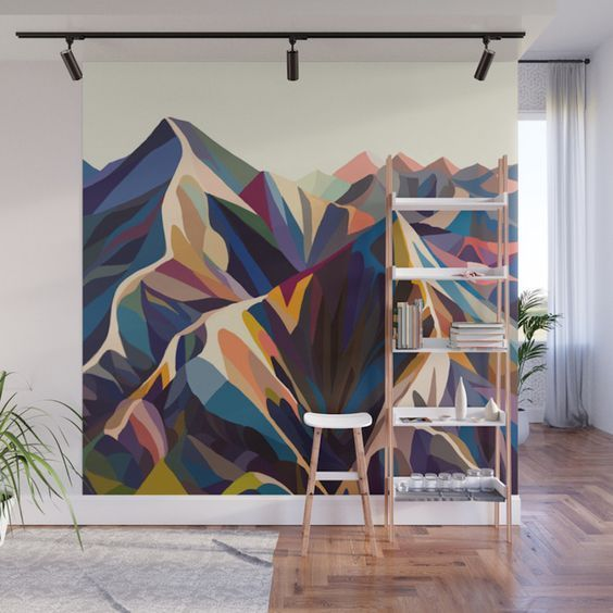 Geben Sie Ihrem Zuhause eine markante Akzentwand mit der neuen Peel + Stick Wall Mura von Society6 …