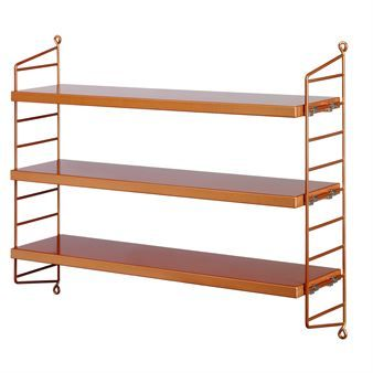 The String Pocket is the perfect storage shelf for those who want to create extra work space and a neat storage system. The cool copper color makes the string shelf ideal for the kitchen. Build a cool storage system on  your walls!