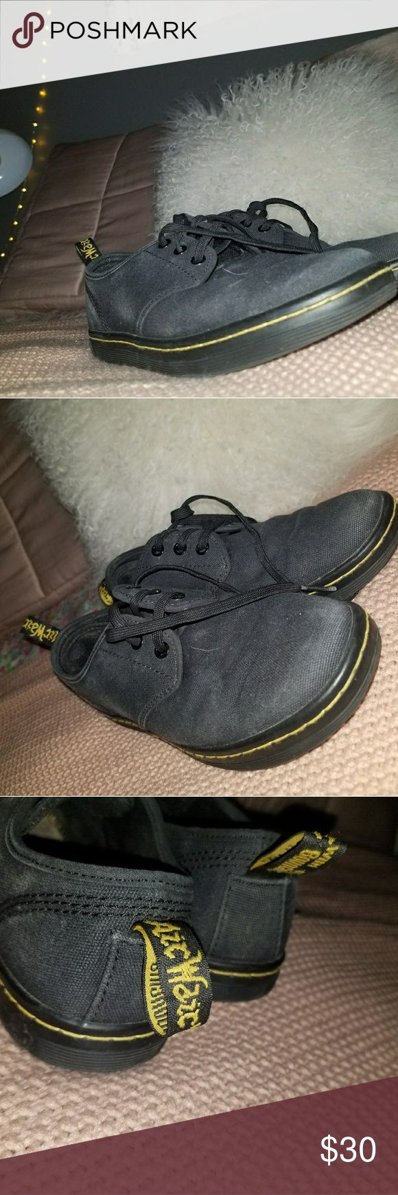 Women's Dr. Martens Soho 3 eye shoe Doc Martens shoe, clean, and has small loose thread in left shoe. Doc Marten Shoes Sneakers