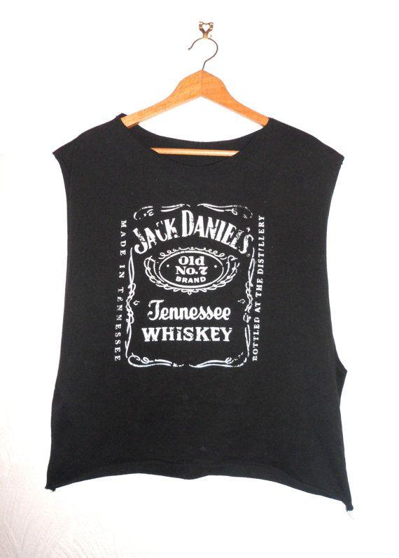 Vintage Jack Daniels Tshirt Vest Punk Rock by TheMagicClothesHorse