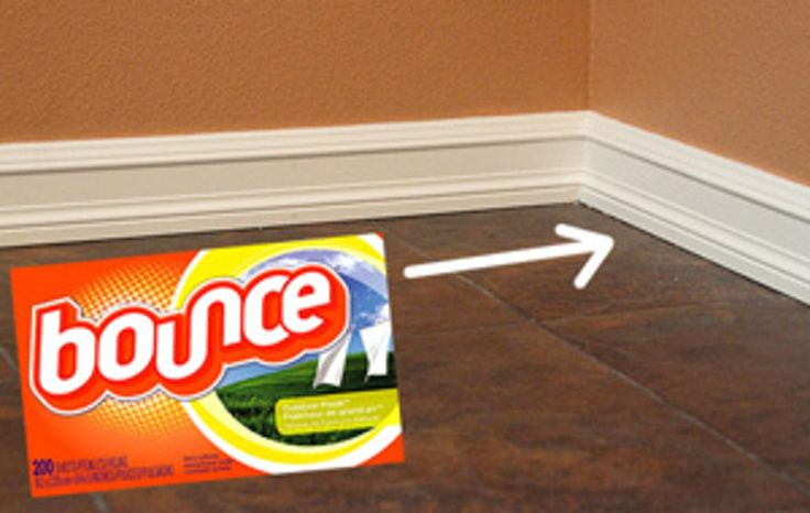 Quick Cleaning Tip: Keep Baseboards Cleaner With Fabric Softner