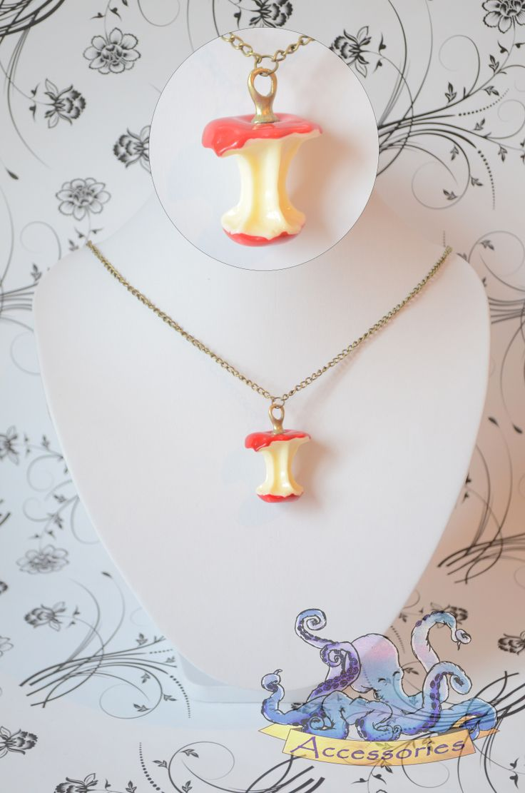 sweet red apple necklace