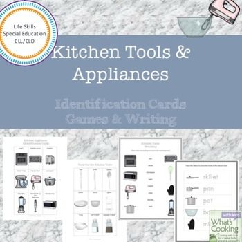Kitchen Tool and Appliance Cards, Games and... by What's Cooking with Kids | Teachers Pay Teachers
