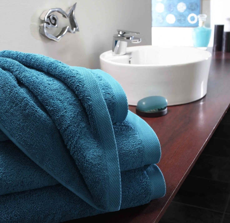 Luxury Cyan Towels