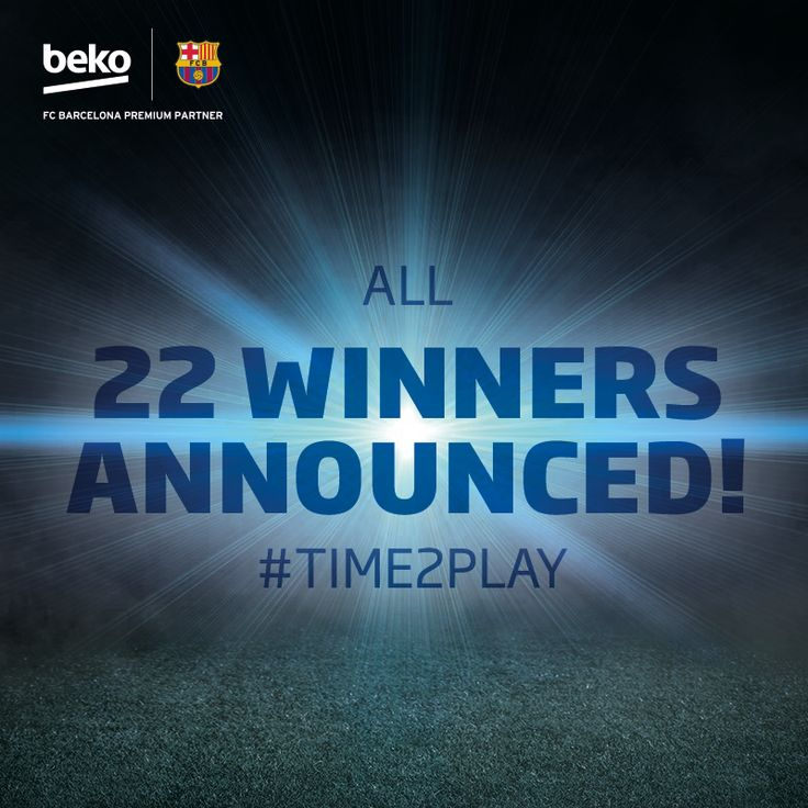 Thanks to every fan who entered the #Time2Play competition! All winners are already announced.