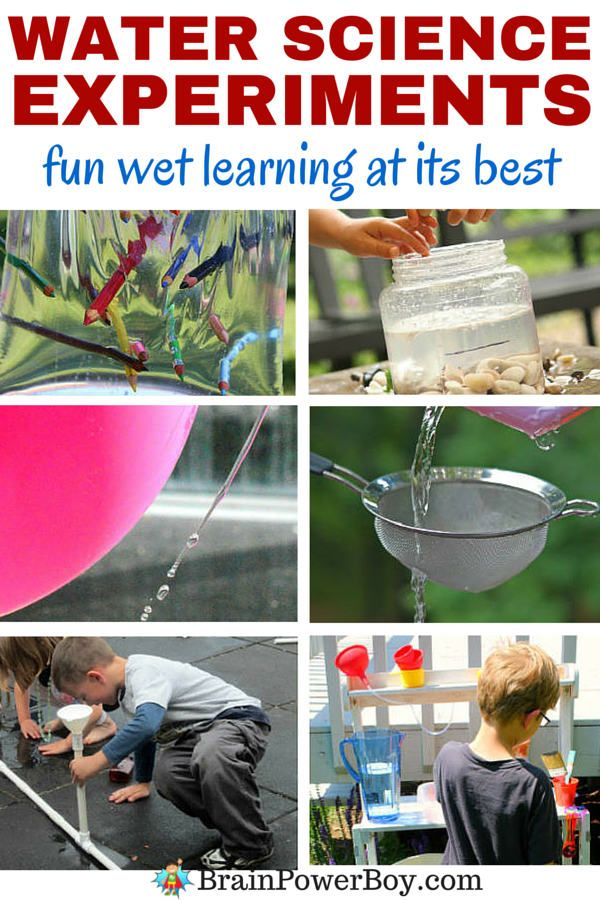 Awesome water science experiments that your kids are going to LOVE! So fun for summer.