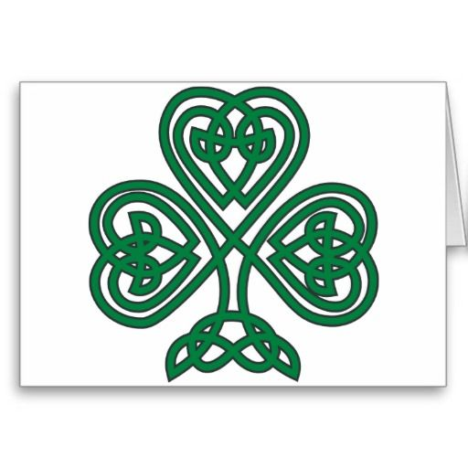 Celtic Knot Shamrock   celtic knot shamrock design a traditional celtic knotwork rendering of ...