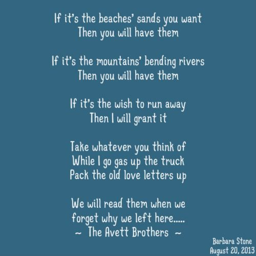 ~ The Avett Brothers ~