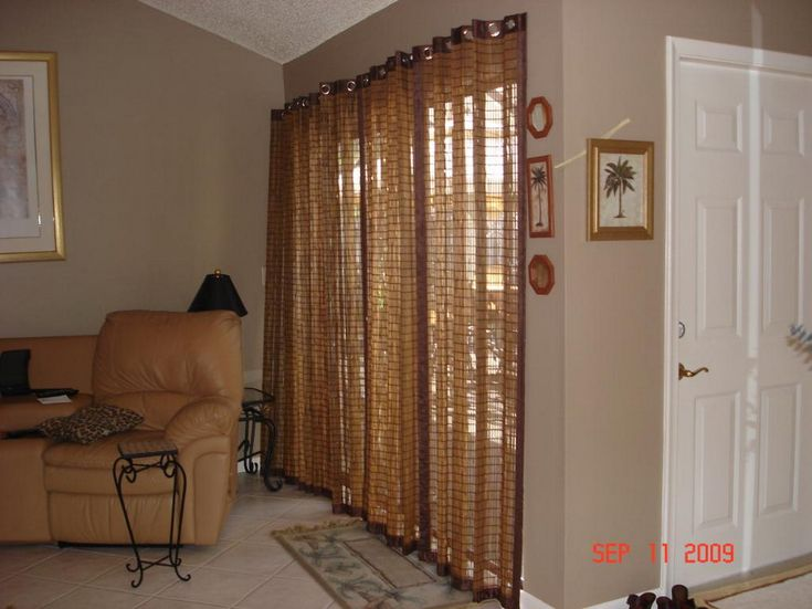 Best Patio Window Images On Pinterest Curtains Patio Door - Bamboo sliding glass door curtains