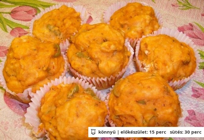 Bögrés sütőporos-pizzás muffin