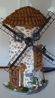 Trabajos en madera, maquetas de ladrillo, tejas decoradas en 3d, etc.