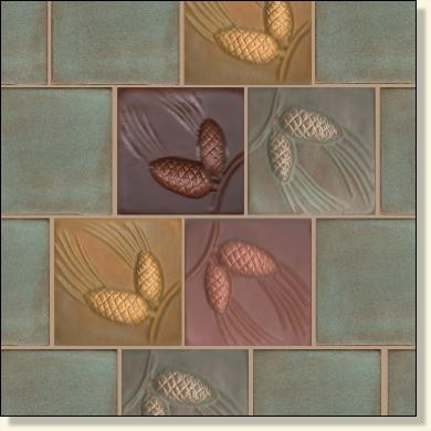 Fay Jones Day Tile, Handmade Accent Tile for Craftsman Bungalows