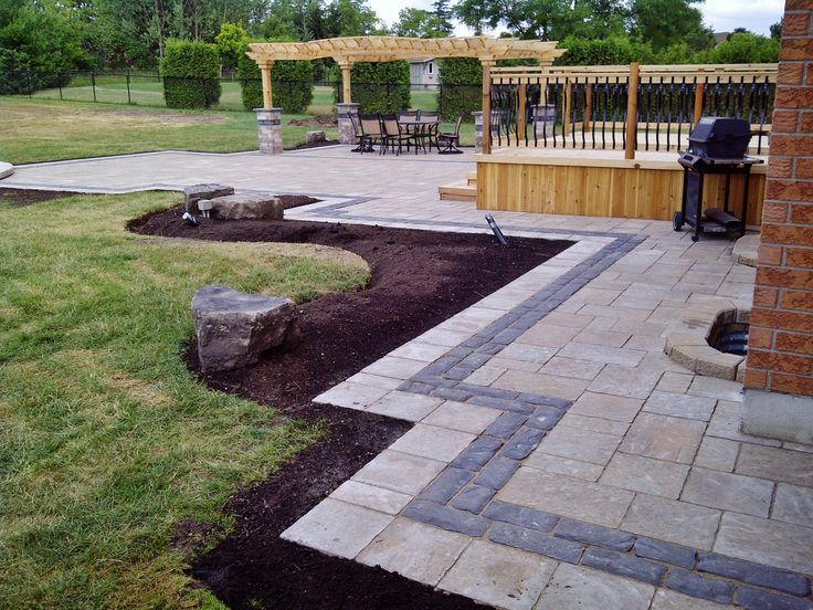 Exceptional Interlock Walkway And Patio With A Double Border.