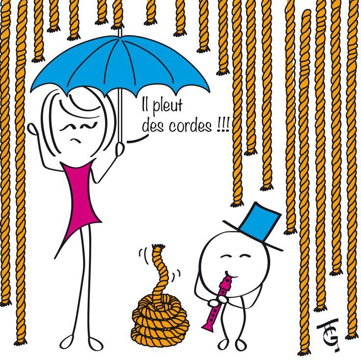 Il pleut des cordes!!!