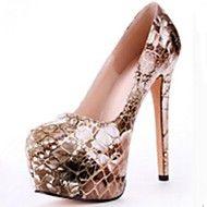 bombas de couro envernizado plataforma sapatos stiletto calcanhar das ... – BRL R$ 153,87