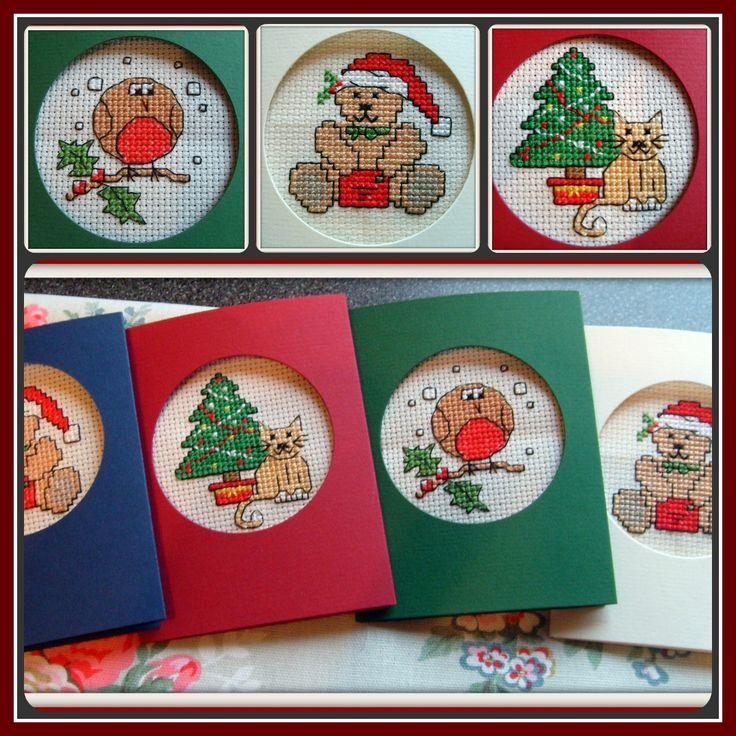 Free Xmas Card Making Ideas Part - 39: Cross Stitch Christmas Cards - Googleu0027da Ara