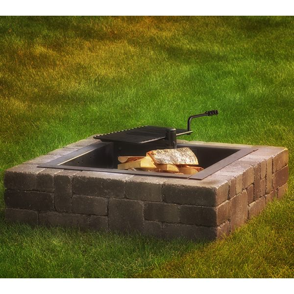 Rockwood Victorian Fire Ring with Cooking Grate | WoodlandDirect.com: Outdoor Fireplaces: Fire Pits - Wood