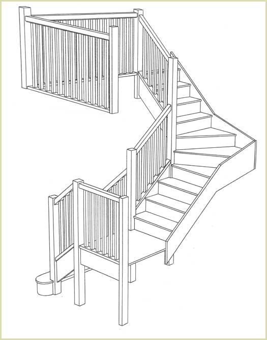 Best Staircase Foursquare Houses Four Square Homes Stairs 400 x 300
