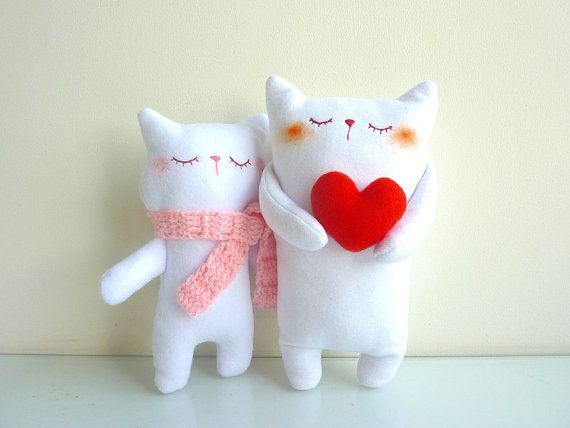 Cat Plush - Kitty Mimi with Scarf - Etsy Project Embrace