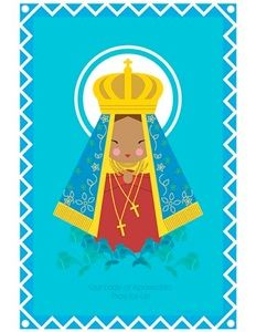 Our Lady of Aparecida of Brazil printable, free Catholic printables! #catholic #homeschooling #worldyouthday2013 #blessedvirginmary