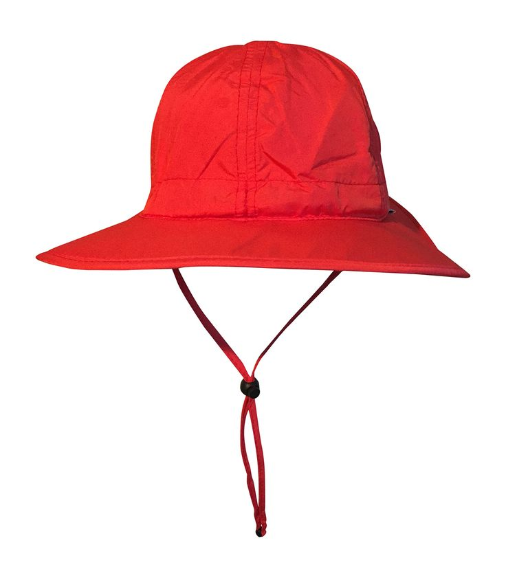 SwimZip Fun Sun Play Wide Brim Sun Hat UPF 50+ Red 0-3 Month. SPF 50+ Material ... Blocks 98% of UVA and UVB Rays! (Called UPF 50+ for Sun Protection Fabric). 100% Polyester. Wide Brim to Keep Sun Off the Face and Neck. Quick Dry Material (PLEASE KEEP AWAY FROM SALT WATER AND HARSH DETERGENTS). Adjustable Tightener on the Back of the Hat and Under the Chin. Great Accessory to Go With SwimZip's Sun Protection Rash Guard Swimsuit Sets.