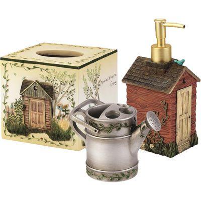 decorative bathroom accessories sets. outhouse bathroom set  Avanti Linens Outhouses 3 Piece Decorative Bath Accessory Set Hot house Pinterest
