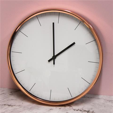 Copper Coloured Clock   Kmart