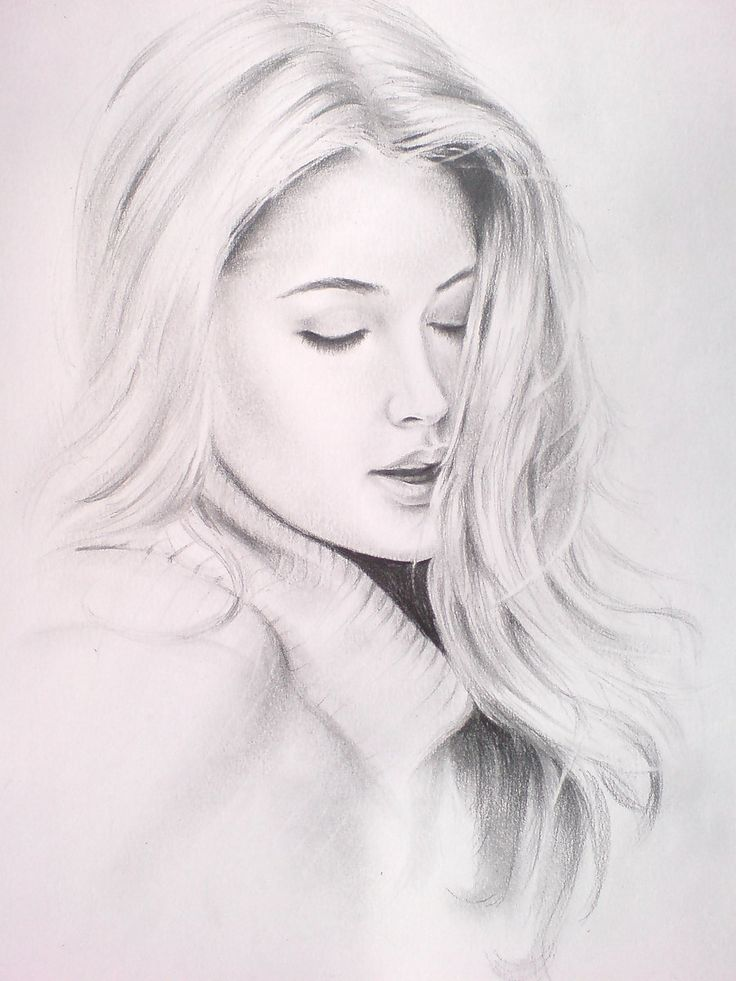 Pencil art drawings of people