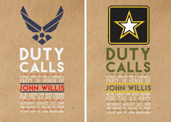 25 best ideas about Deployment Party – Deployment Party Invitations