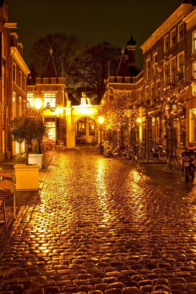 Stukje Leiden bij de Burcht.