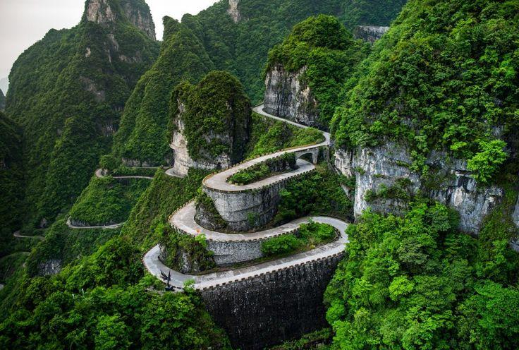 Гора Тяньмэнь в Хунань (Китай)