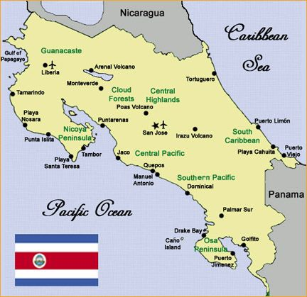 Best COSTA RICA MAPS Images On Pinterest Costa Rica Maps And - Map of costa rica central america