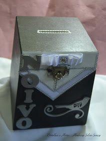 """O """"Seguindo Viagem"""" de hoje é a Caixa Cofre para a Hora da Gravata para o Luís, que será esposo da Camila, da minha cidade de Limeira-SP!  ..."""