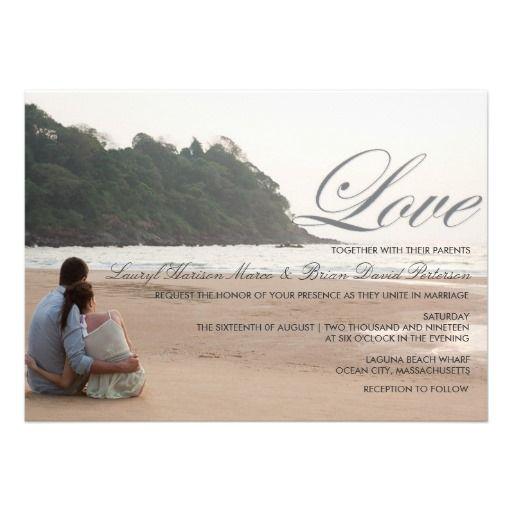 20 best Beach Themed Wedding Invitations images on Pinterest Beach - best of wedding invitation maker laguna