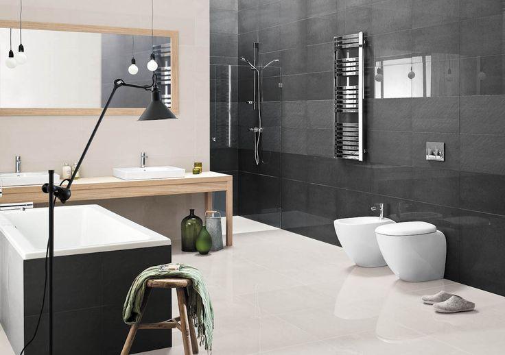 Doblo - płytki łazienkowe w odcieniach szarości - Ceramika Paradyż