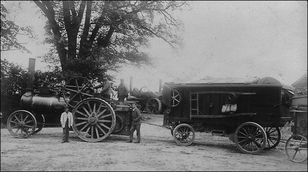 Castlethorpe Village - Thrashing with a steam engine