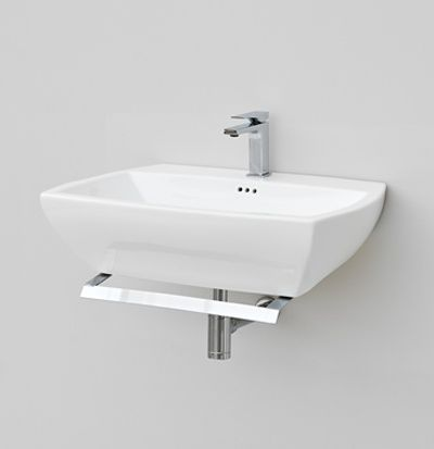 Jazz, design Meneghello #bagno #bathroom #design #decor #white #Artceram wall-hung washbasin + towel holder