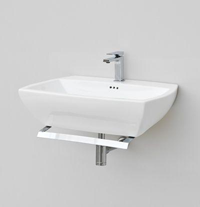 Jazz, design Meneghello #bagno #bathroom #design #decor #white #Artceram wall-hung washbasin + towel holder